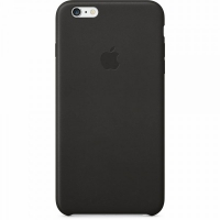 Чехол Apple iPhone 6 Plus Leather Case Black крупнее