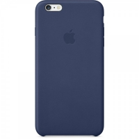 Чехол Apple iPhone 6 Plus Leather Case Midnight Blue крупнее
