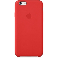 Чехол Apple iPhone 6 Plus Leather Case Red крупнее