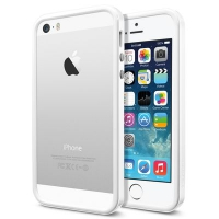 Бампер SGP Neo Hybrid EX Slim Snow для iPhone 5/5S White крупнее