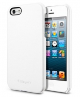 Чехол SGP Leather Grip для iPhone 5/5S White крупнее