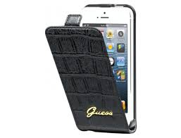 Чехол Guess Couture Flip Case для iPhone 5/5S Black крупнее