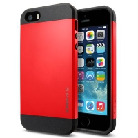 Чехол SGP Slim Armor Color для iPhone 5/5S Red крупнее