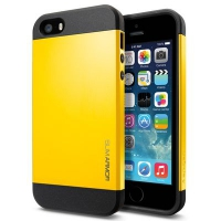 Чехол SGP Slim Armor Color для iPhone 5/5S Yellow крупнее