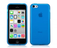 Чехол Momax Clear Twist  для iPhone 5C Blue крупнее
