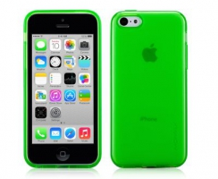 Чехол Momax Clear Twist  для iPhone 5C Green крупнее