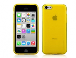 Чехол Momax Clear Twist  для iPhone 5C Yellow крупнее