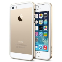 Бампер SGP Neo Hybrid EX Slim Metal для iPhone 5/5S Gold крупнее