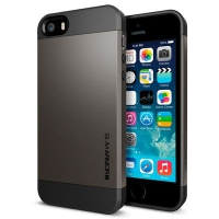 Чехол SGP Slim Armor  для iPhone 5/5S Gunmetal крупнее