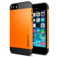 Чехол SGP Slim Armor Color для iPhone 5/5S Orange крупнее