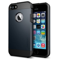 Чехол SGP Tough Armor  для  iPhone 5/5S Dark Grey крупнее