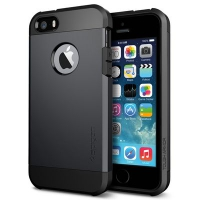 Чехол SGP Tough Armor  для  iPhone 5/5S Smooth Black крупнее