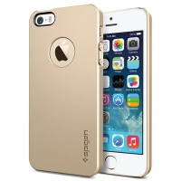 Чехол SGP Ultra Thin Air для iPhone 5/5S Gold крупнее