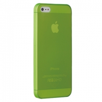 Чехол Ozaki O!coat 0.3 Jelly iPhone 5/5S Green крупнее