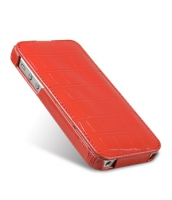Чехол Melkco Premium Leather Case Jacka Type для iPhone 5/5S Croco-Red крупнее
