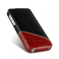 Чехол Melkco Premium Leather Case Jacka Mix Type для iPhone 5/5S Black/Red крупнее