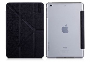 Чехол Momax Flip Cover Wise & Clear Touch  для iPad mini Black крупнее