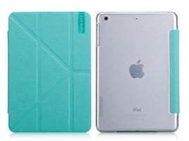 Чехол Momax Flip Cover Wise & Clear Touch  для iPad mini Blue крупнее