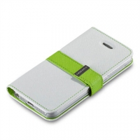 Чехол Momax Flip Diary для iPhone 5/5S White крупнее