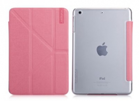 Чехол Momax Flip Cover Wise & Clear Touch  для iPad mini Pink крупнее