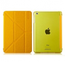 Чехол Momax Flip Cover Wise & Clear Touch  для iPad mini Yellow крупнее