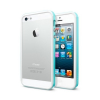 Бампер SGP Neo Hybrid EX Slim Snow для iPhone 5/5S Blue крупнее