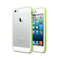 Бампер SGP Neo Hybrid EX Slim Metal для iPhone 5/5S Green крупнее