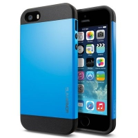 Чехол SGP Slim Armor Color для iPhone 5/5S Blue крупнее