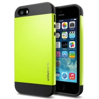 Чехол SGP Slim Armor Color для iPhone 5/5S Green крупнее
