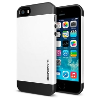 Чехол SGP Slim Armor Color для iPhone 5/5S White крупнее