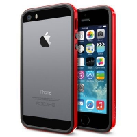 Бампер SGP Neo Hybrid EX Slim Vivid для iPhone 5/5S Red крупнее
