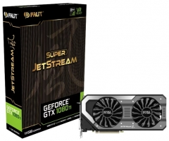 Видеокарта Palit GeForce GTX 1080 Ti 1505MHz PCI-E 3.0 11264MB 11000MHz 352 bit DVI HDMI HDCP Super JetStream крупнее