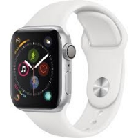 Apple Watch Series 4 GPS, 44mm Silver Aluminum Case with White Sport Band (MU6A2) крупнее