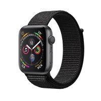 Apple Watch Series 4 GPS 44mm Space Gray Aluminum Case with Black Sport Loop (MU6E2) крупнее