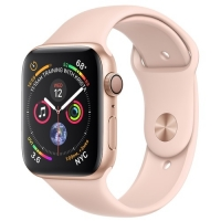 Apple Watch Series 4 40mm Gold Aluminum Case with Pink Sand Sport Band (MU682) крупнее