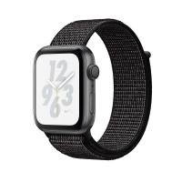 Apple Watch Nike+ Series 4 GPS 40mm Space Gray Aluminum Case with Black Nike Sport Loop (MU7G2) крупнее