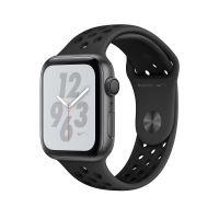 Apple Watch Nike+ Series 4 GPS 40mm Space Gray Aluminum Case with Anthracite/Black Nike Sport Band (MU6J2) крупнее