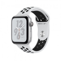 Apple Watch Nike+ Series 4 GPS 40mm Silver with Pure Platinum/Black Nike Sport Band (MU6H2) крупнее