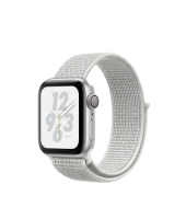 Apple Watch Nike+ Series 4 GPS 40mm Silver Aluminum Case with Summit White Nike Sport Loop (MU7F2) крупнее
