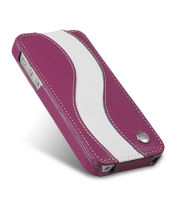 Чехол Melkco Premium Leather Case Special Edition Jacka Typa для iPhone 5/5S Purple/White крупнее